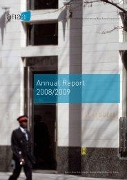 Annual Report 2008/2009 - AFIAA