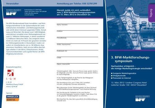 3. BFW-Marktforschungs- symposium - L·Q·M Marktforschung