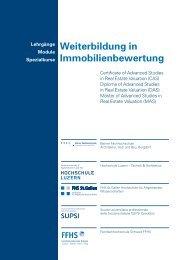 Studienführer CAS Immobilienbewertung - Weiterbildung ...