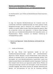 Service Level Agreements in FM-Verträgen ... - dr. lutz h. michel