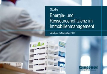 Energie- und Ressourceneffizienz im Immobilienmanagement