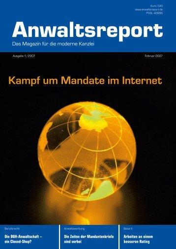 Kampf um Mandate im Internet - Anwalt-Suchservice