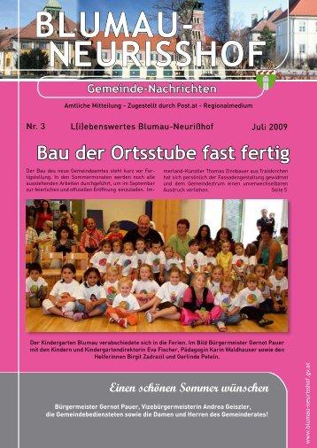Gemeindezeitung vom Juli 2009 - Blumau Neurißhof