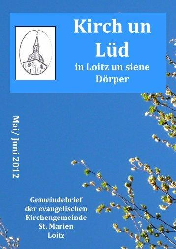Kirch un Lüd - Evangelische Kirchengemeinde St. Marien Loitz