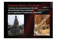 Vortrag Holger Schmidt-Schuchardt, Sachverständiger für Holzschutz