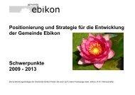 Schwerpunkte 2009 - Gemeinde Ebikon
