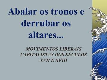 MOVIMENTOS LIBERAIS CAPITALISTAS - Educacional