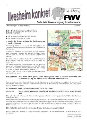 Sonder- ausgabe - Freie Wähler Ilvesheim