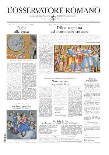 L'OSSERVATORE ROMANO - La Santa Sede