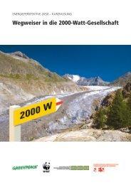 Wegweiser in die 2000-Watt-Gesellschaft - WWF Schweiz