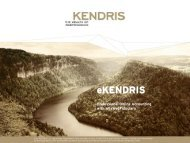 Presentation eKENDRIS / AbaWeb (pdf, 496 kb) - KENDRIS The ...