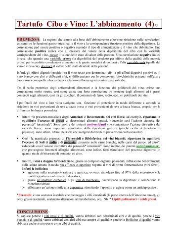 Abbinamento Tartufo e Vino - Degusta Giovane - Osvaldo Murri ...