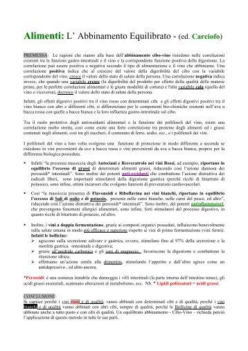 Abbinamento Carciofo e Vino - Degusta Giovane - Osvaldo Murri ...