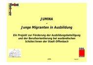 JUMINA – Junge Migranten in Ausbildung - ECAP