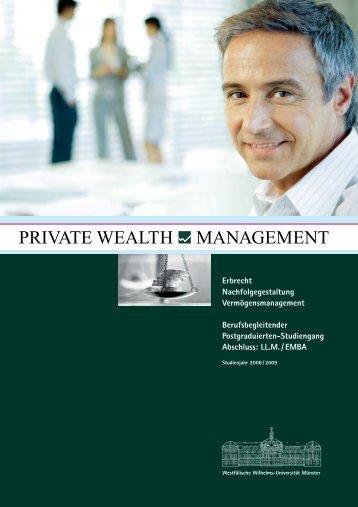 Nachfolgegestaltung Vermögensmanagement Berufsbegleitender
