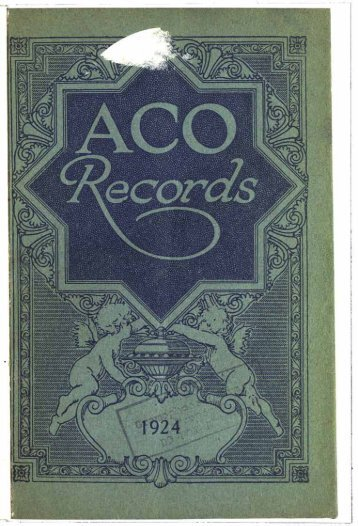 ACO Records Catalogue 1924 - British Library - Sounds
