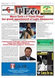 """Marco Carta e il """"Canta Piazza"""", due grandi ... - Altopascio"""