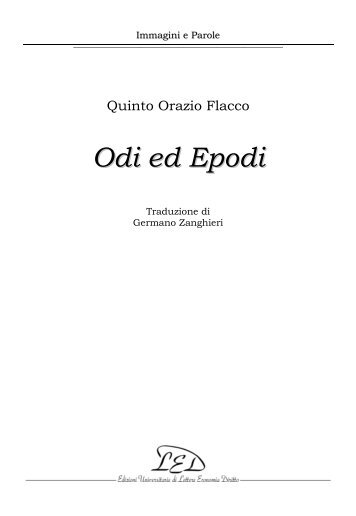 Orazio - Odi ed epodi - Led on Line