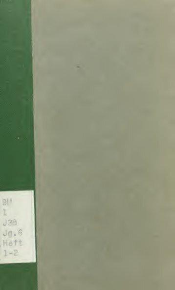 Jeschurun; Zeitschrift für die Wissenschaft des Judenthums - Index of