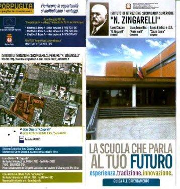 Brochure di presentazione della scuola - N. Zingarelli