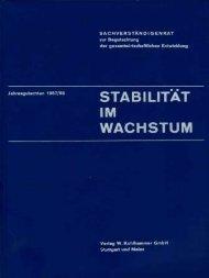 Jahresgutachten 1967/68 - Sachverständigenrat zur Begutachtung ...