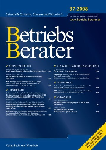 Zeitschrift für Recht, Steuern und Wirtschaft - Valnes - Independent ...