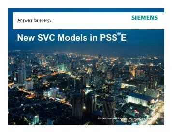 New SVC Models in PSS E