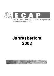 Jahresbericht 2003 (726 Kb - ECAP