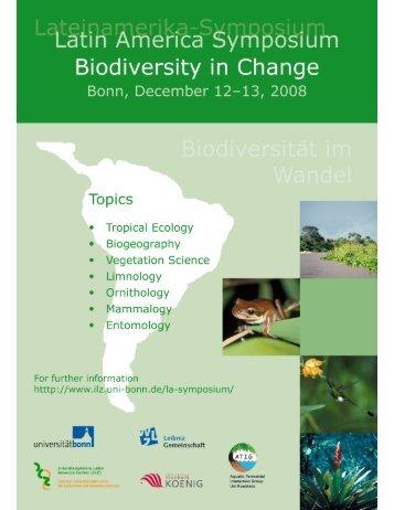 Biodiversität im Wandel - ILZ - Universität Bonn