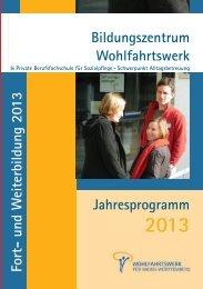 Aktuelles Jahresprogramm 2013 - Wohlfahrtswerk für Baden ...