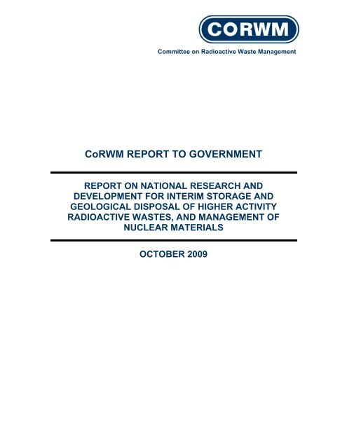 2009 Report to Government on National Research and