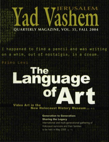 Yad Vashem Magazine #35
