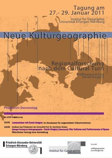 Programmheft Neue Kulturgeographie 8.pdf - Institut für Geographie
