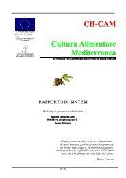 CH-CAM - Cultura Alimentare Mediterranea in Svizzera ... - ECAP