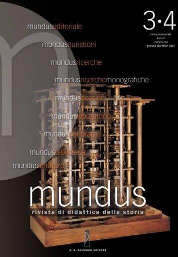 rivista semestrale anno II numero 3-4 gennaio-dicembre 2009