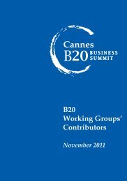 Download the B20 working groups' contributors biographies here