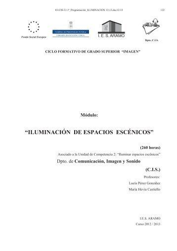"""""""ILUMI ACIÓ DE ESPACIOS ESCÉ ICOS"""" - Inicio"""