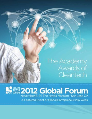 Cleantech Open | 2012 Global Forum