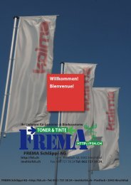 TONER & TINTE - FREMA Schläppi AG