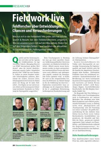 Fieldwork live - ForschungsWerk GmbH