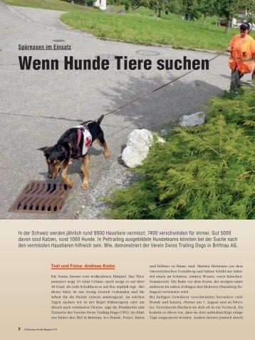 Wenn Hunde Tiere suchen - AUFRAD.CH Home