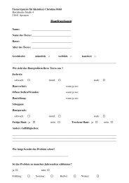 Hautfragebogen 1 - Tierarztpraxis für Kleintiere Christina Röhl