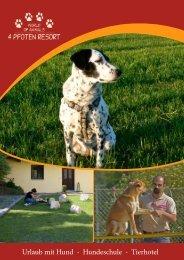 Urlaub mit Hund - Hundeschule - Tierhotel