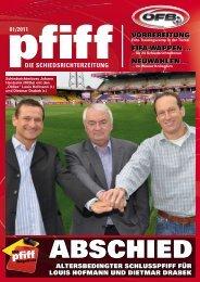 PFIFF Ausgabe Nr. 1 - 2011 - Schiri.at