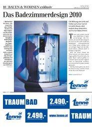 Das Badezimmerdesign 2010 - tenne Bad + Fliesen