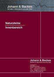 Natursteine Innenbereich - Johann & Backes OHG