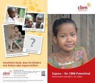 Sajana – Ihr CBM-Patenkind