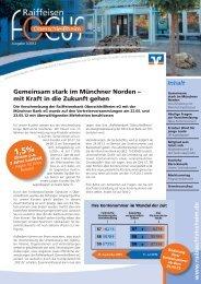 FOCUS Ausgabe 3/2012 - Münchner Bank eG