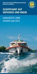 schifffahrt auf untersee und rhein angebote und fahrplan 2013