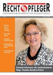 Ausgabe Juli 2009 - ZA Justiz
